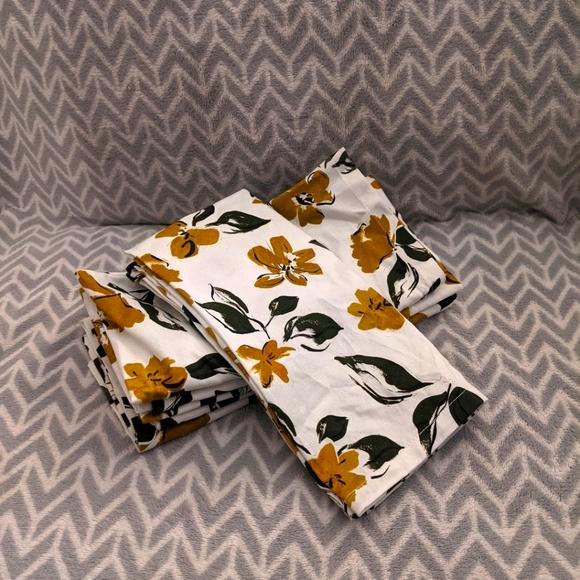Indigo OUI - leafy floral napkins set of 6